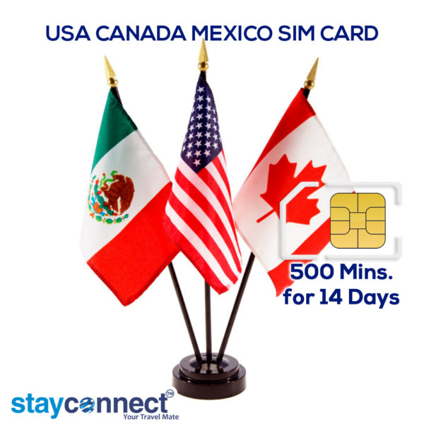 USA CANADA AND MEXICO (PINK) UNLIMITED DATA PLAN FOR 14 DAYS 1